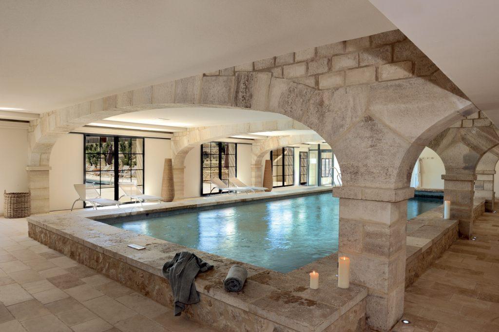 La piscine du Spa des Jardins de Saint-Benoît