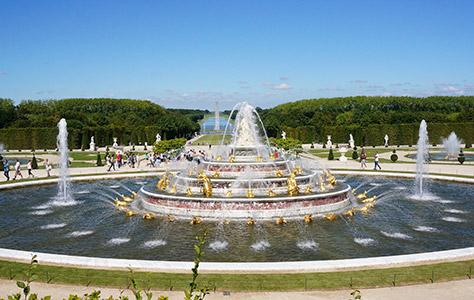 Le Bassin de Latone des Jardins du Château de Versailles en Yvelines