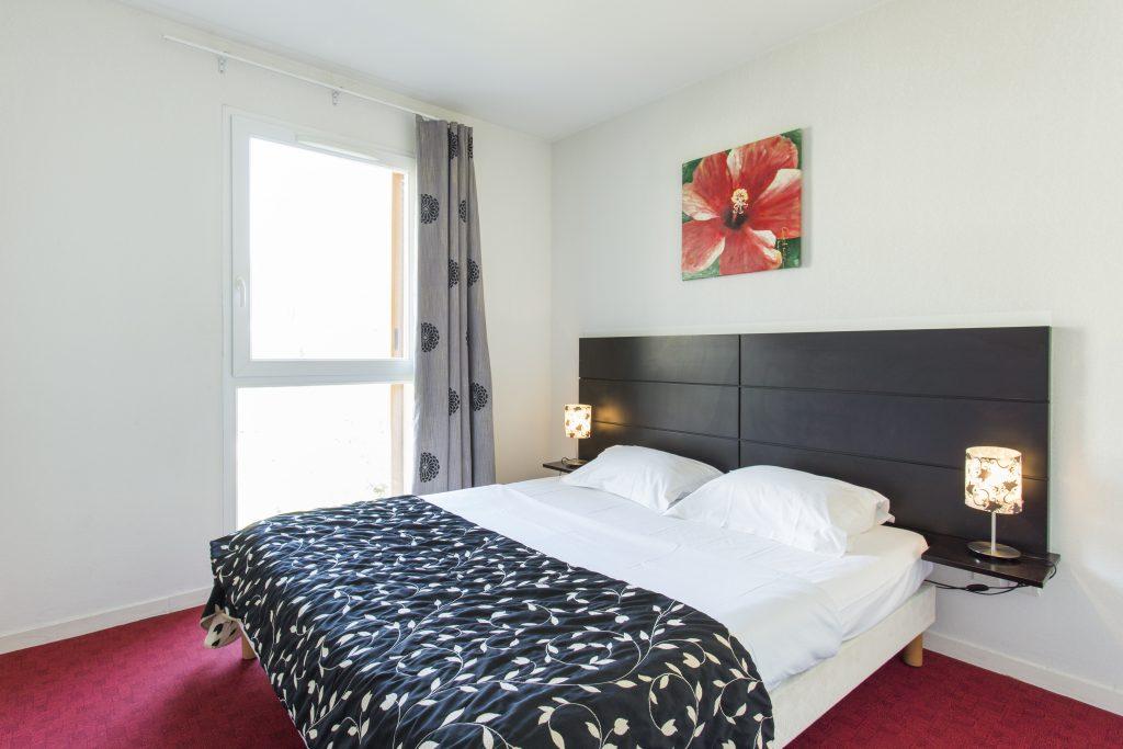 Chambre double de la résidence hôtelière/hôtel de Le Virginia by Popinns