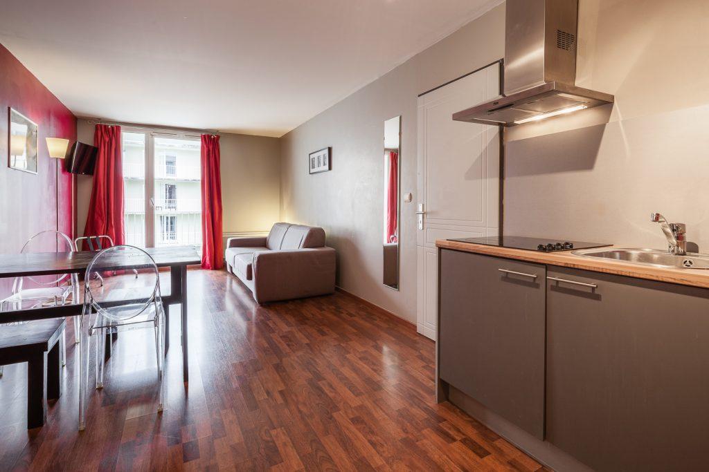 Chambre de la résidence hôtelière / hôtel le Ruby Suites à Strasbourg